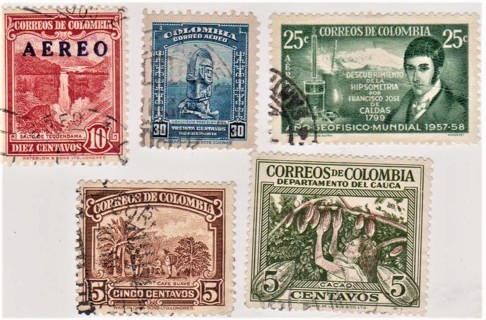 Old Colombia Stamps