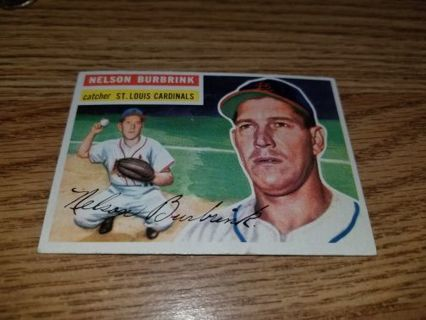 1956 Topps Baseball Nelson Burbrink #27 St Louis Cardinals,VGEX condition,Free Shipping!