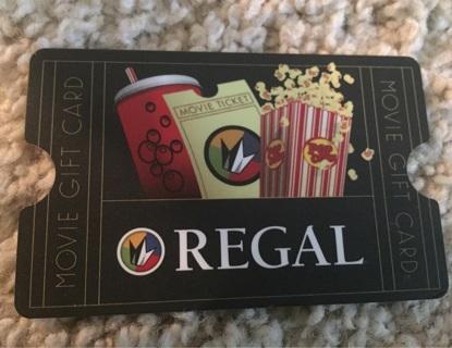 Regal Cinemas Movie Gift Card - $8.72