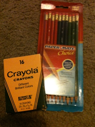 Penicl and crayons