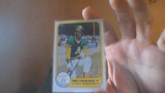 1981 FLEER RICKEY HENDERSON
