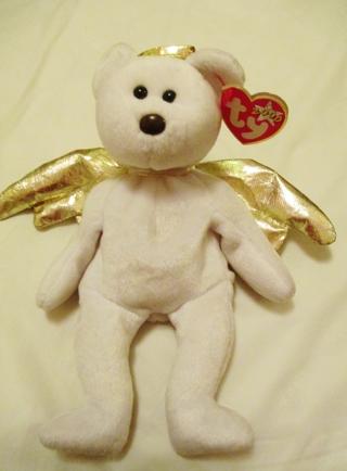 b13624dab42 FREE  Nwt~ TY Beanie Baby Y2K Halo Gold Winged Angel Bear Plush Toy Stuffed  Bear
