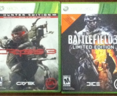 Crysis 3 and Battlefield 3 For Xbox 360