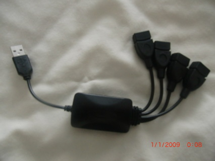 Brand New High Speed 4 Port USB HUB Adaptor for home used #8