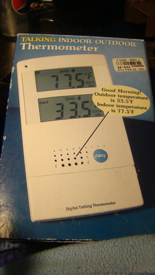 indoor/outdoor talking thermastat
