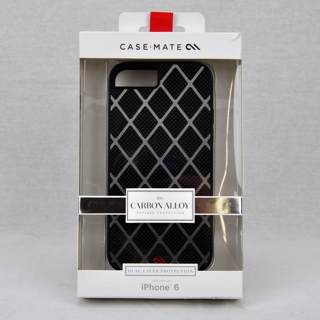 Case-Mate iPhone 6 Genuine Carbon Fiber fused with Metal Alloy Case Model # CM031461