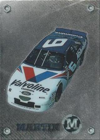 Mark Martin's car -  1996 Press Pass Mark Martin Gallery M-Force #10 - MINT CARD