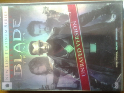 Blade Trinity DVD unrated 2 disc