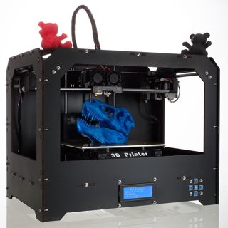 Black 3D Printer for Makerbot Replicator 2 Dual Extruders + 1ABS/PLA filament
