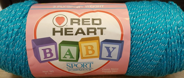 "NEW - Red Heart Baby Sport Yarn - ""Parakeet"""