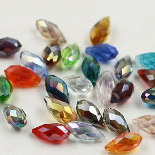 [GIN FOR FREE SHIPPING] 50Pcs Multicolor Glass Teardrop Beads