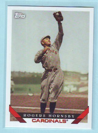 2019 Topps Archives Rogers Hornsby Baseball Card # 235 Cardinals