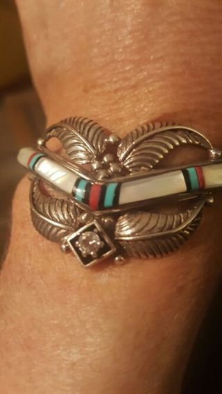 Beautiful bracelet and ring both stamped sterling silver.
