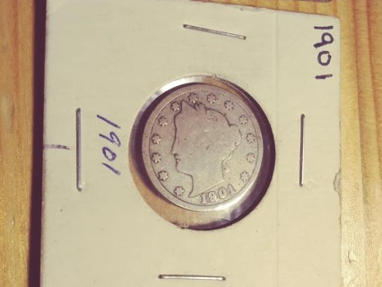 1901 Liberty V Nickel with Nice Full Date! 125