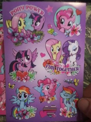 My little pony new usticker sheet No refunds! Good quality! Lowest gins No lower!