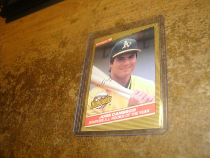 1986 donruss highlights#55-jose canseco-rookie card-rc-mt-a`s-mlb