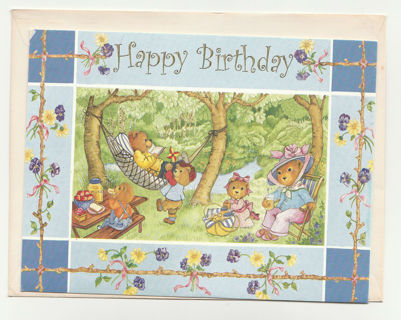 Cute Birthday Card Unused With Envelope