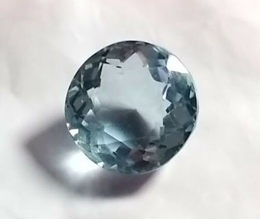 AQUAMARINE NATURAL TESTED HUGE 19.42 CARATS AND 16 MM ROUND LOOK AT PHOTOS WOW
