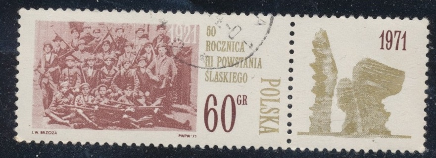 Poland:  1971, Silesan Insurrectionists, 50th Anniv., MNH-OG-CTO, Scott # PL-1808 - POL-1600c