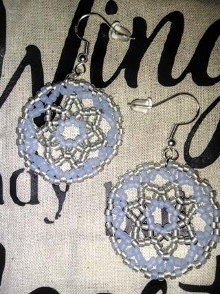 Medallion type earrings