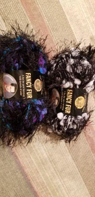 Lion brand fancy fur yarn