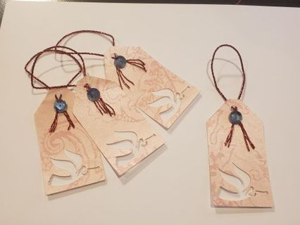 Set of 4 blank Christmas angel tags