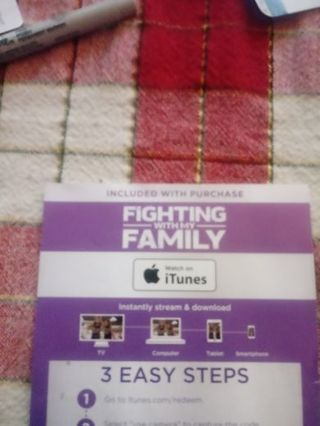 Fighting With My Family ITUNES Code