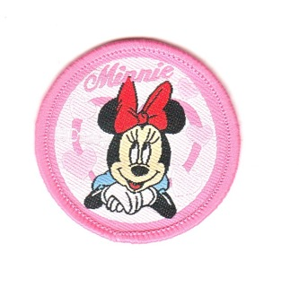 Disney's Minnie Mouse Round SEW-ON Patch Badge