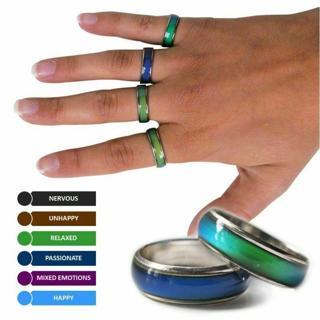 Amazing Mood Ring Emotion Feeling Color Change Adjustable Ring Jewelry Size 5-12