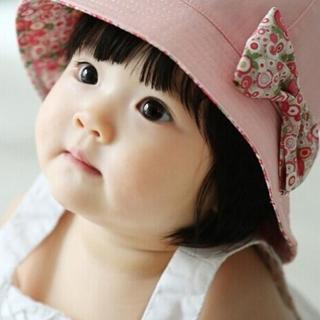2018 Hot Flower Printed Cotton Baby Summer Hat Kids Girls Cute Bow Knot Cap Sun Bucket Hats Fashio