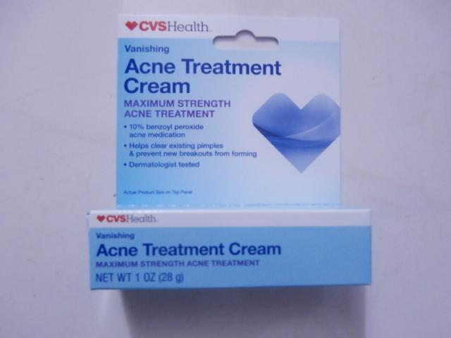 Free Cvs Health Acne Treatment Maximum Strength Cream 1 Oz 28g