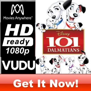 101 DALMATIANS HD MOVIES ANYWHERE OR VUDU CODE ONLY