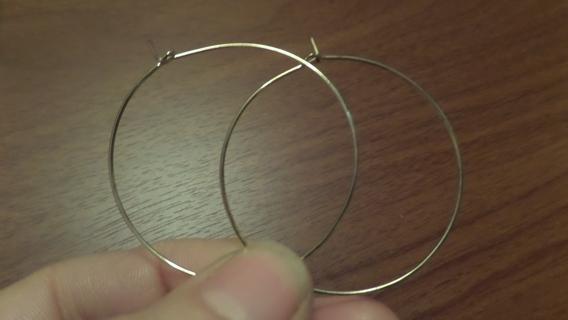 New! Simple gold hoop earrings