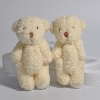 5PCS New Kawaii Small Teddy Bears Plush Soft Toys Pearl Velvet Teddy Dolls