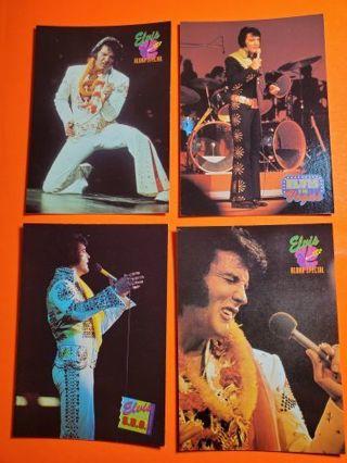 4 Elvis in Concert Cards 1992