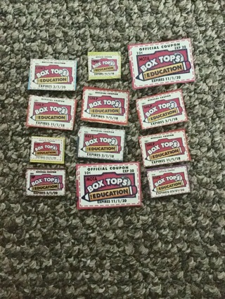 12 box tops for education