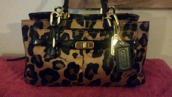 Rare Coach ocelot bag and poppy wristlet