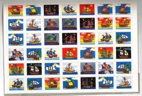 Saiboat & Pirate Ship Stickers
