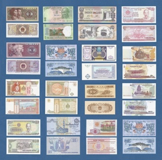 Collectible Currency World Banknotes (18) Bills
