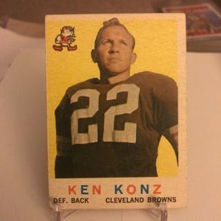 1960 Topps Ken Konz Card
