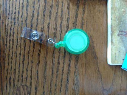 Green Clip-On ID Badge Holder
