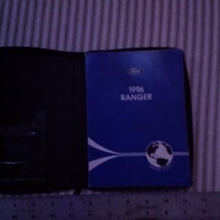 1996 Ford Ranger Owner's Guide for glove box