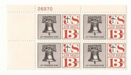 Free: Vintage US Air Mail Stamps : SCOTT C62 : Block Of 4