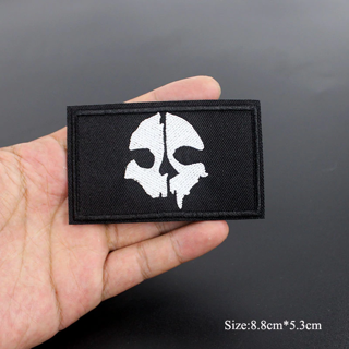 1PCS Skull Skeleton Death Iron On Patch Embroidered Applique For Jacket Clothes Badge DIY Apparel