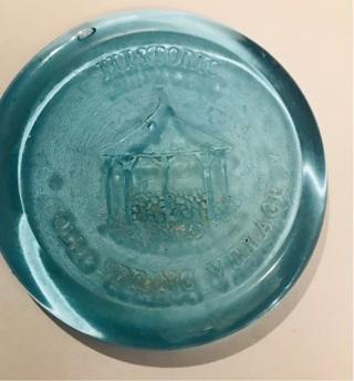 Historic Cold Spring Village Glass Souvenir Coaster