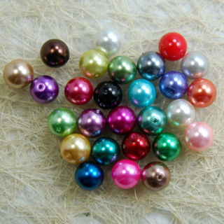 [GIN FOR FREE SHIPPING] 100PCs Top Quality Czech Glass Pearl Round Loose Beads