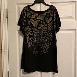 Women's Black & Gold Miss Top Shirt - Size L