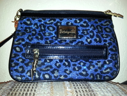 Betsey Johnson Betseyville Leopard Print Glitter Cross Body Bag To Match The Dress I Have Listed