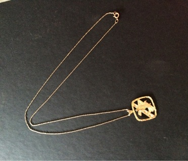 14k Solid Yellow Gold Eagle Pendant with 10k Solid Gold Necklace