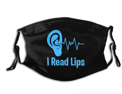 I Read Lips Mask, Hearing Impaired